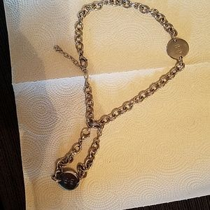 Jewelry - Stainless steel choker necklace/matching bracelet